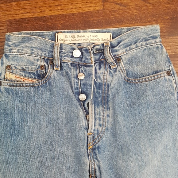 d2e45908 Diesel Denim - DIESEL Vintage 90's High Rise Jeans Button Fly 26
